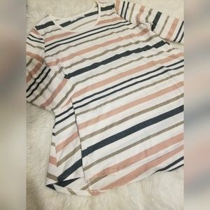 💘 {Maurices} Striped Glitter Top